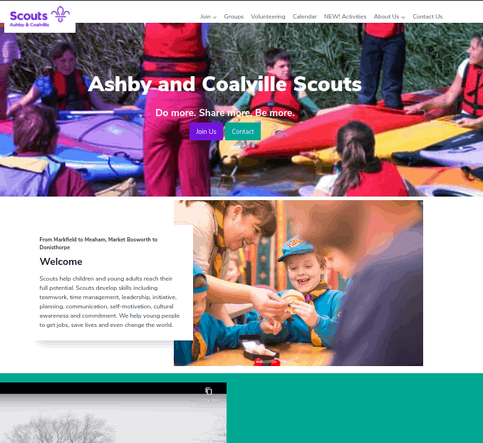 Ashby and Coalville Scouts Homepage